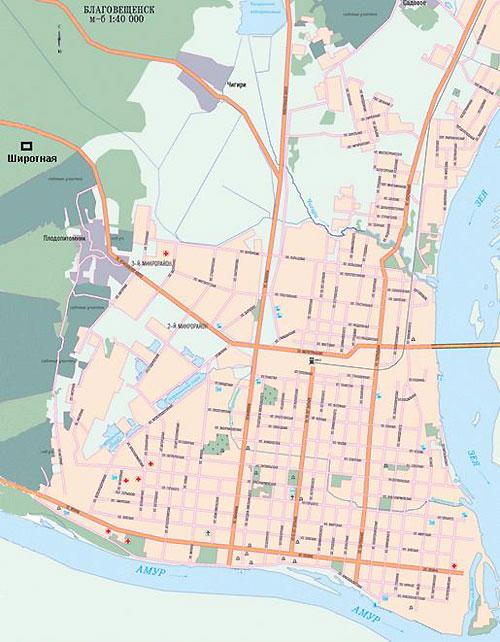 Буклет шаблон. Станица Благовещенская - Карта. Старые карты Благовещенска и